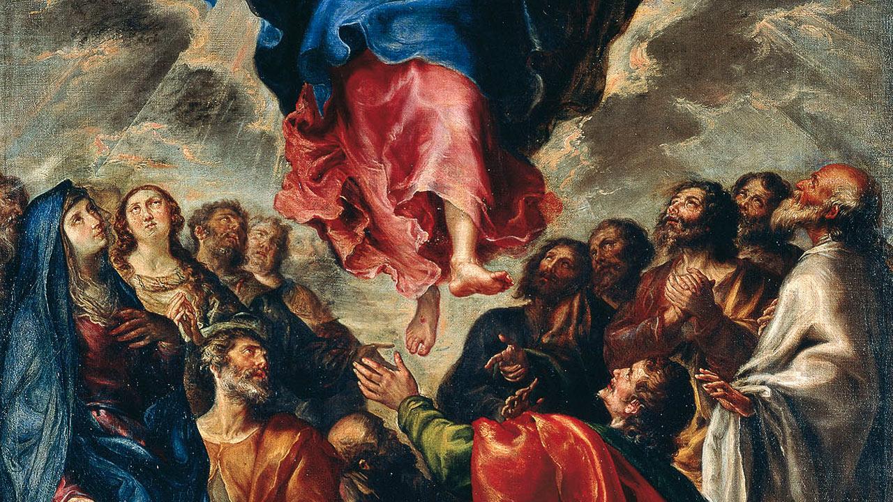 Jesus subiu aos céus e está sentado à direita de Deus, Pai Todo-Poderoso