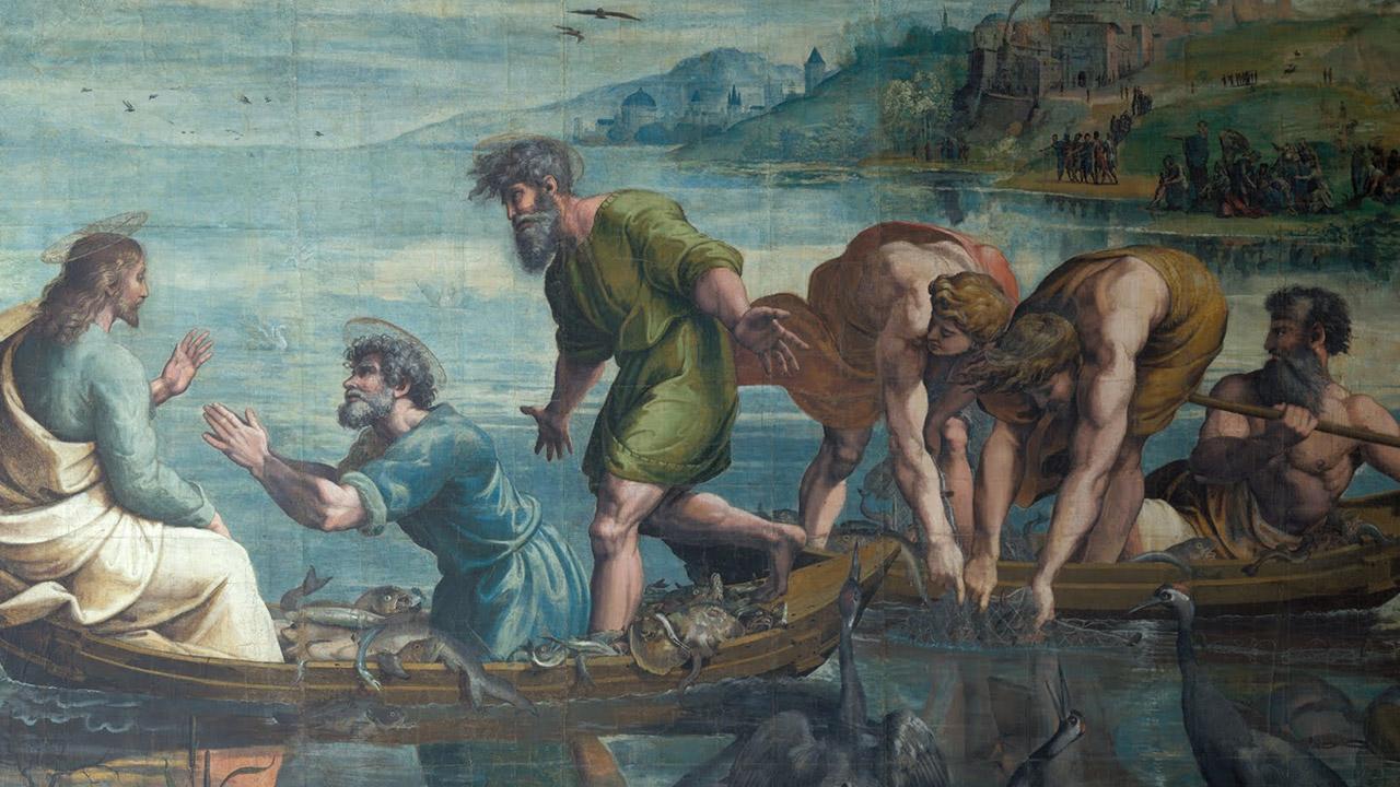 Do mar, Jesus pesca os que estão na terra