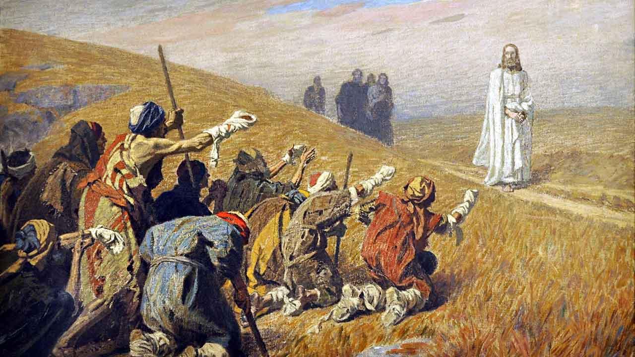 Os leprosos curados por Cristo