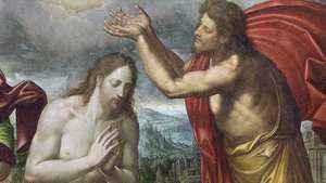 1054. O Batismo que jorra do peito de Cristo