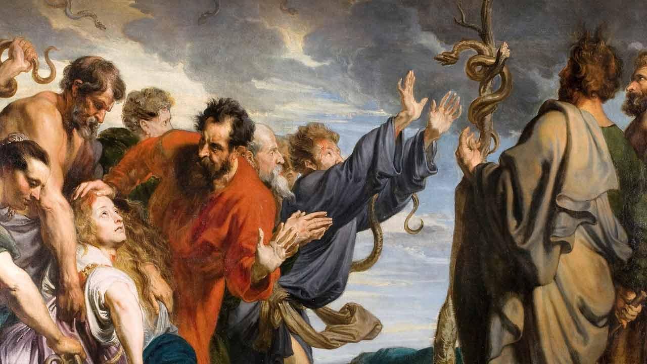 """""""Como Moisés levantou a serpente no deserto"""""""