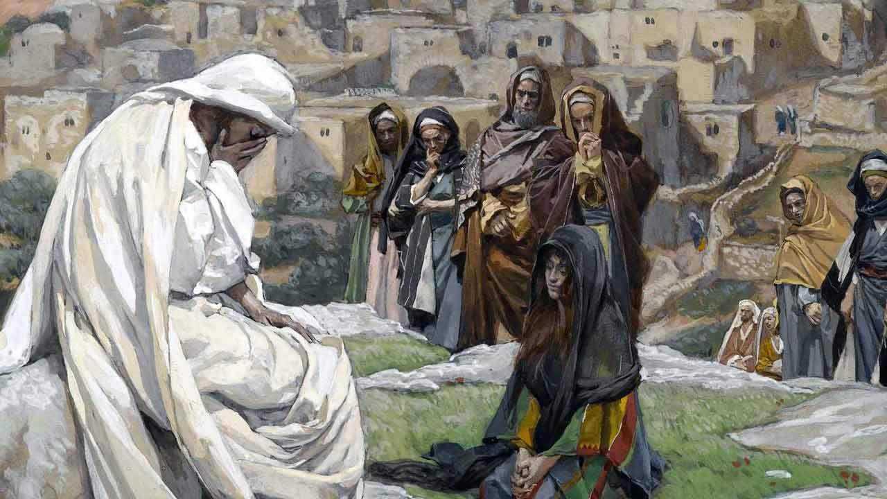 Jesus chora por nossa causa
