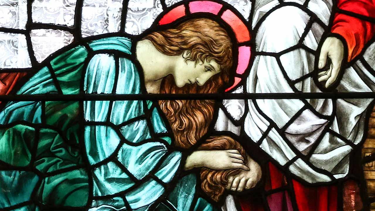 A unção de Maria e as quatro virtudes