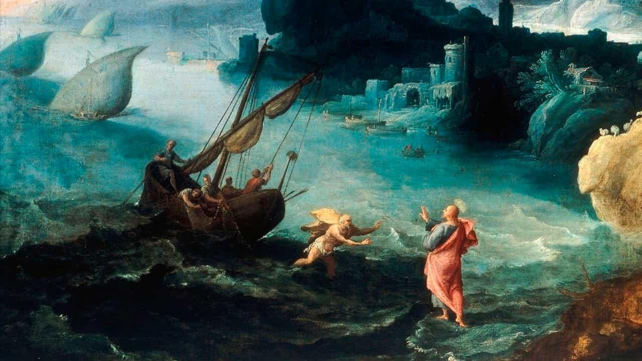 Pedro sobre as águas