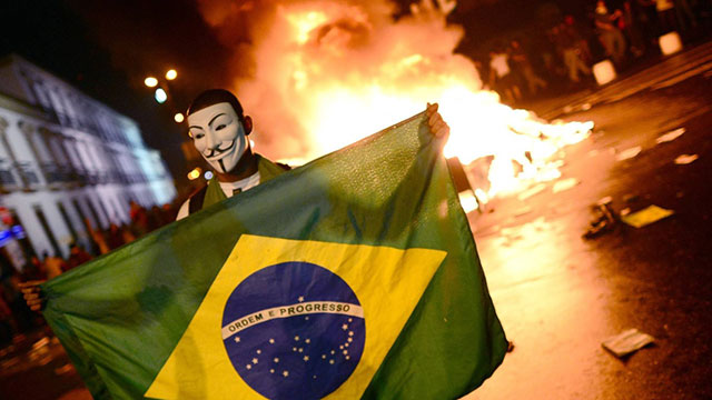 As manifestações no Brasil