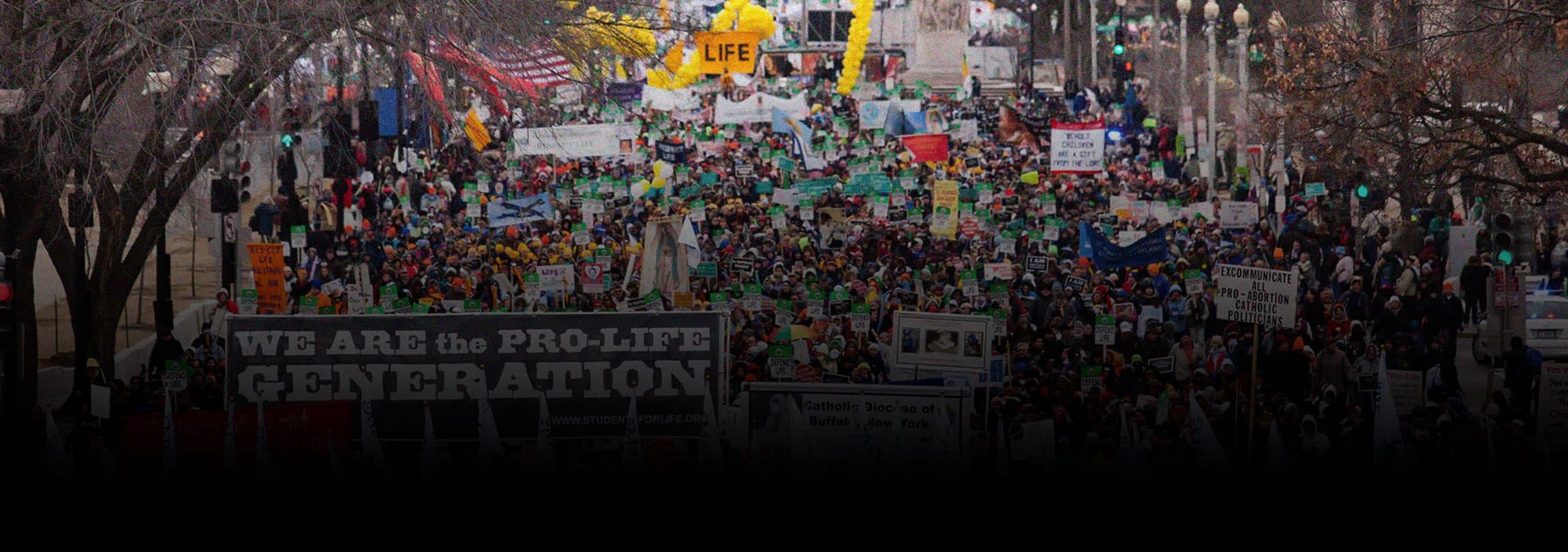 """A maior """"Marcha pela Vida"""" da história dos EUA"""