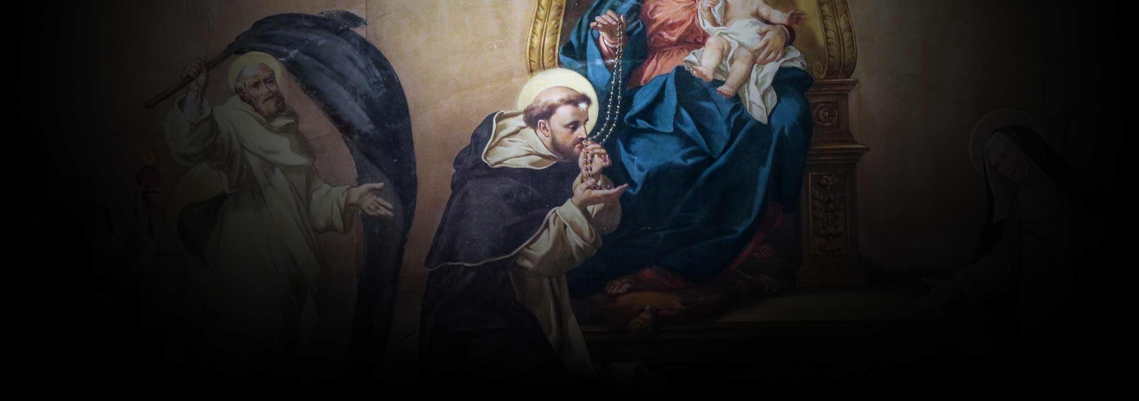 São Domingos e o Santo Rosário
