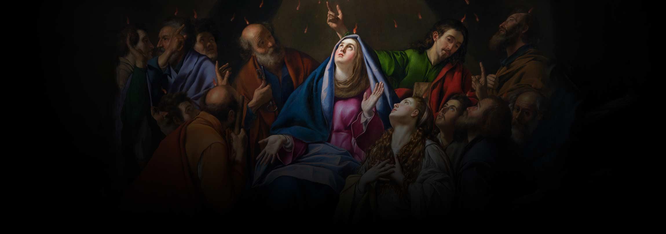 Por que o Espírito Santo aparece em línguas de fogo?