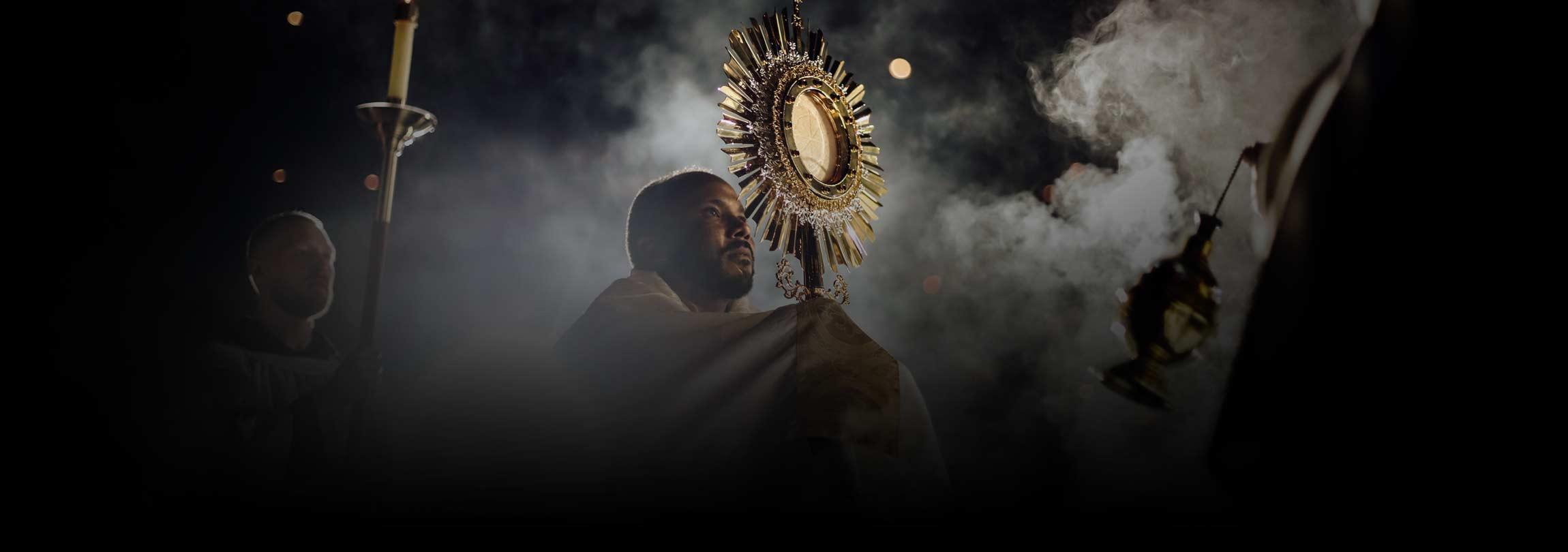 Vejo vocês na Eucaristia