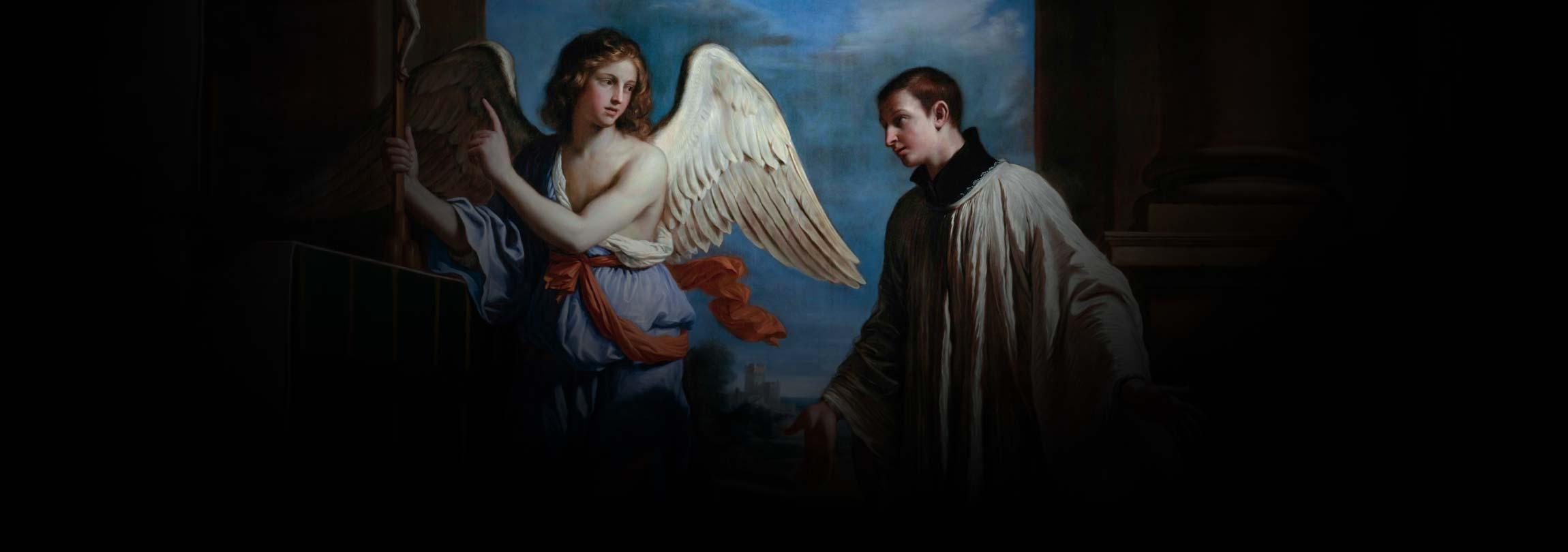 Um jovem em meio aos anjos do Céu