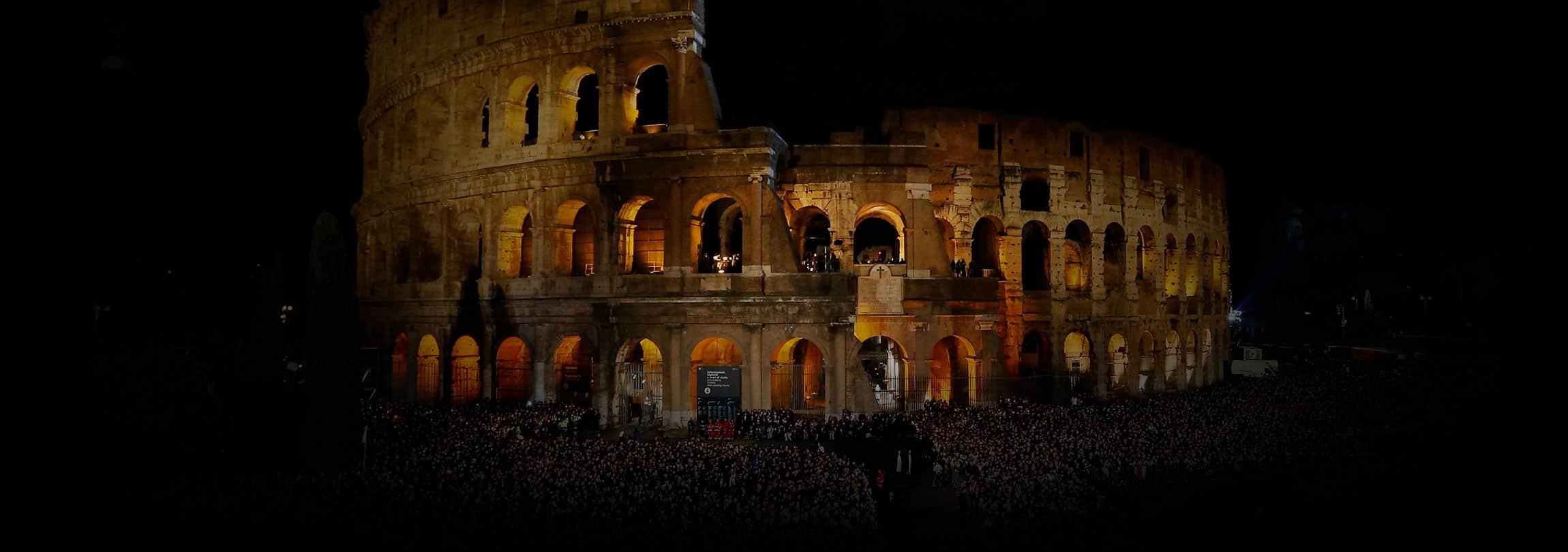 Aquela Via-Sacra no Coliseu