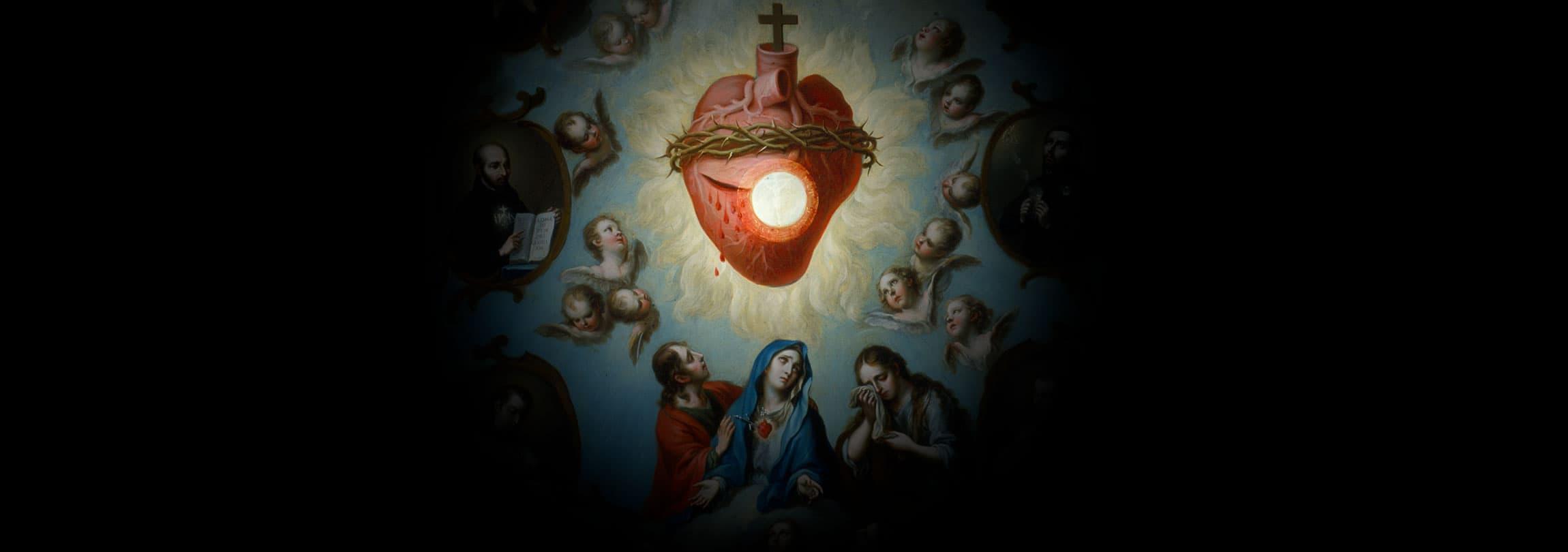 As pulsações do Sagrado Coração de Jesus