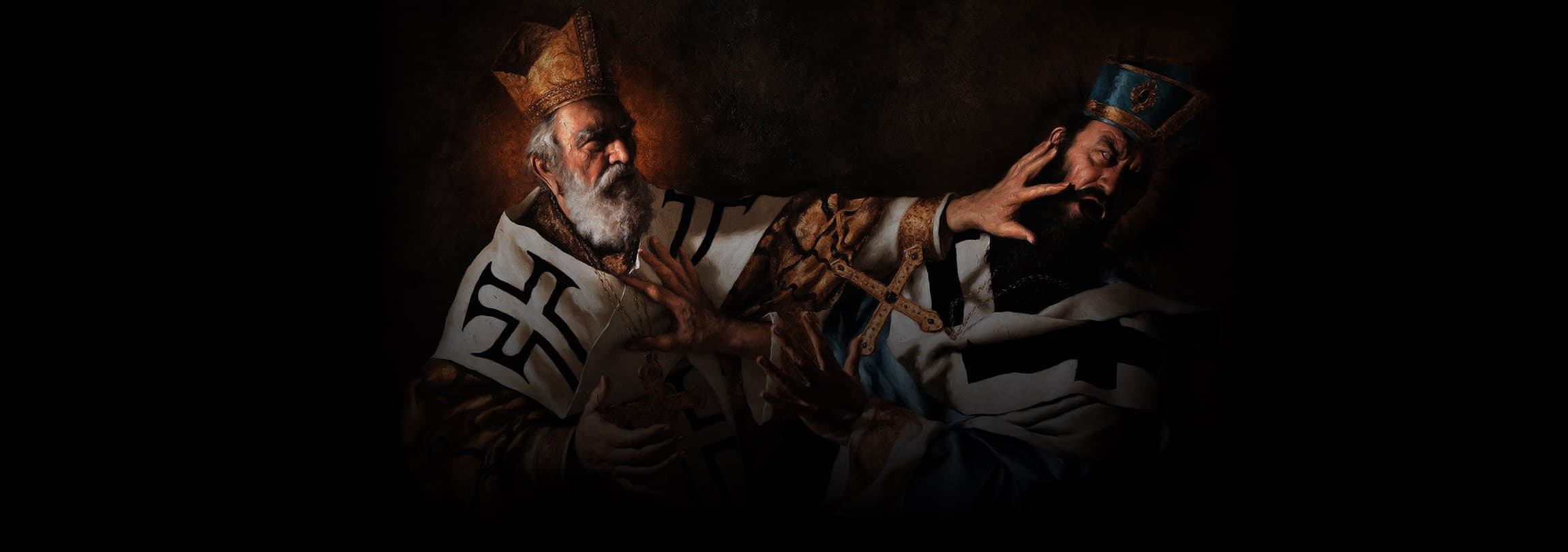 O dia em que um herege apanhou de São Nicolau